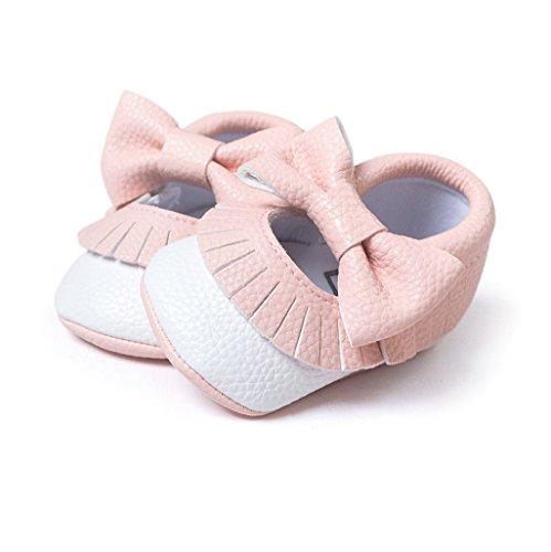 Suave De Ff Bowknot Niña Cuero auxma Niño Único Bebé Zapatillas 18 Para Zapatos Antideslizante 0 Meses 8wqIdx1d