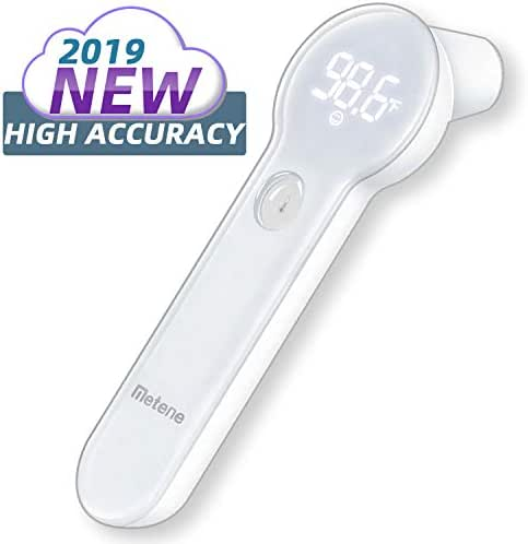 Baby Thermometer for Fever - Instant Accurate Reading Medical Digital Forehead and Ear Thermometer - Metene Infrared Infant Thermometer for Best Accuracy with Indicator for Kids, Toddlers, and Adults
