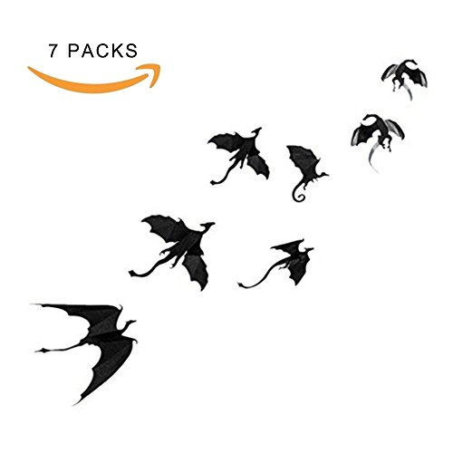 Costumes Game Thrones Easy Of (Beser Wall Sticker-7pcs Lot Game of Thrones Spired Halloween Gothic 3D Removable Dragon Wall Stickers for Wall Decal,Home)