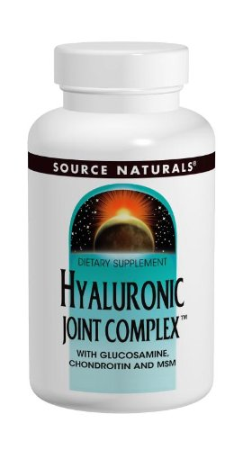 - Source Naturals Hyaluronic Joint Complex With Glucosamine, Chondroitin & MSM Extra Strength - 60 Tablets