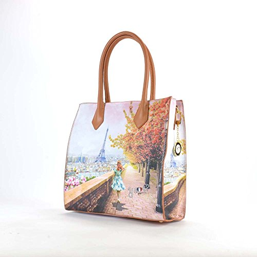 BORSA DONNA Y NOT? VERTICAL SHOPPING M EIFFEL WALK YES BAG J-375
