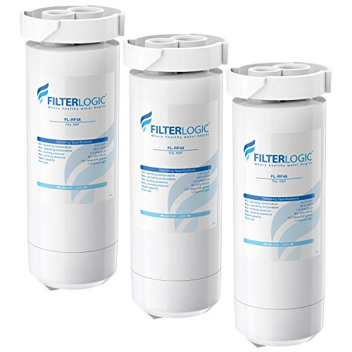 FilterLogic XWF Refrigerator Water Filter, Replacement for GE XWF, WR17X30702, Models Starting with GBE21, GDE21, GDE25, GFE24, GFE26, GNE21, GNE25, GNE27, GWE19, GYE18, GSE23, GSE25, GSS23, Pack of 3