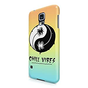Chill Vibes Yin Yang Tumblr Summer Beach Ocean Sun And Palm Trees Hard Snap-On Protective Case Cover For Samsung Galaxy S5