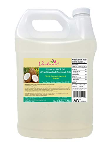(Verdana Coconut MCT Oil - Fractionated Coconut Oil - 1 Gallon - Kosher Food Grade - Genuine 100% from Coconut - Only C8 & C10 - for Keto, Paleo, Sports Nutrition, Aromatherapy, Massage, Tinctures )