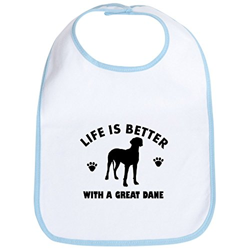 - CafePress - Great Dane breed Design Bib - Cute Cloth Baby Bib, Toddler Bib