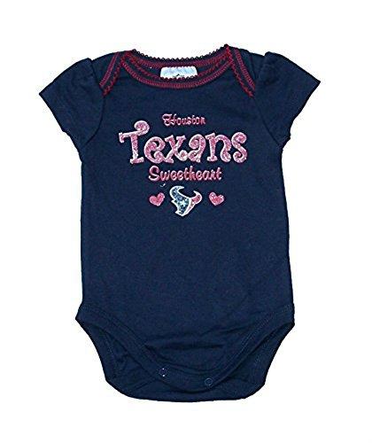 【超安い】 Houston 3 Texans幼児Girl 's Onesieサイズ0 – – 3 Monthsスイートハートボディスーツ B072NWDPXH – Navyブルークリーパー B072NWDPXH, デジ倉:78daafeb --- a0267596.xsph.ru