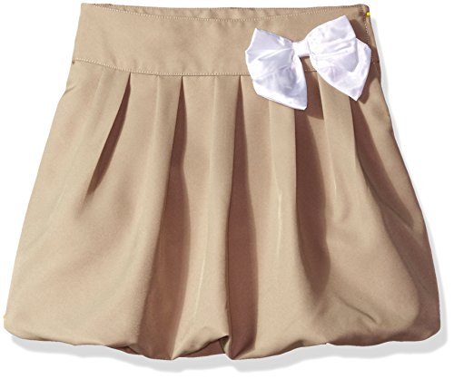 CHEROKEE Little Girls' Uniform Skirt with Hidden Short, Pleated Khaki, 6x