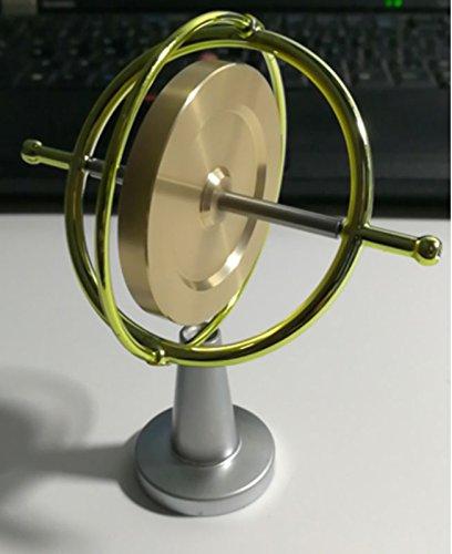 Joytech Precision Gyroscope Metal Anti-gravity Balance Gift Brass Wheel  Golden Rim Spinning Top WK002-4