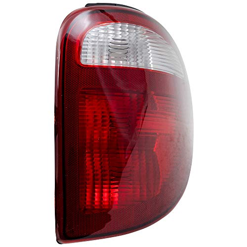 Passengers Taillight Tail Lamp with Connector Plate Replacement for 01-03 Dodge Caravan Chrysler Voyager Town & Country Van 4857600AH