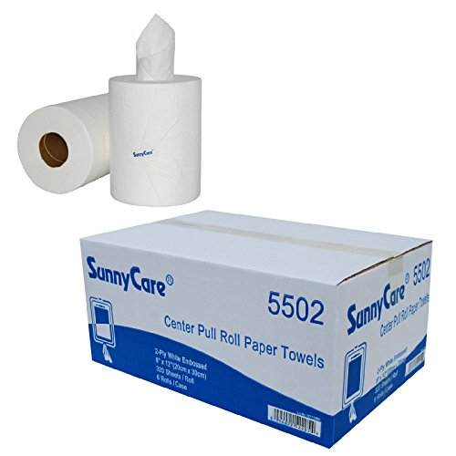 sunnycare-5502-center-pull-paper-towels-2-ply-320-sheets-roll-6-rolls