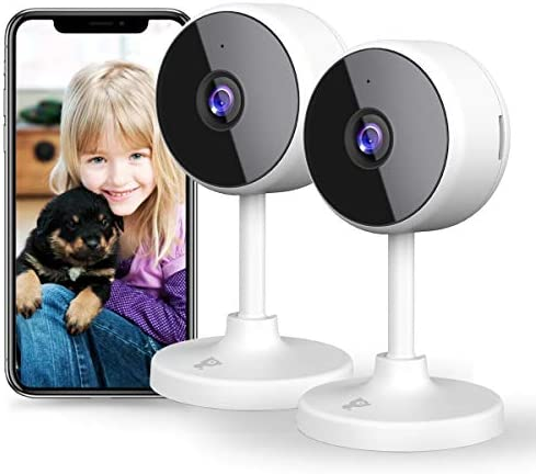 [New 2021] WiFi Camera Littlelf Security Camera, 1080P Indoor Camera Baby Monitor with 2-Way Audio, Human Detection, Night Vision, Home Surveillance Camera for Pet/Baby/Elder, Alexa Support, 2PCS