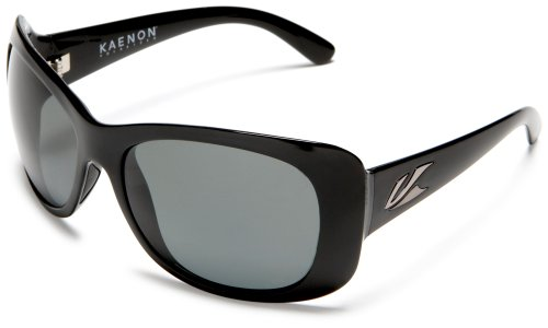 Kaenon Women's Eden Polarized Oval Sunglasses, Black, 45 mm (Eden Glasses)