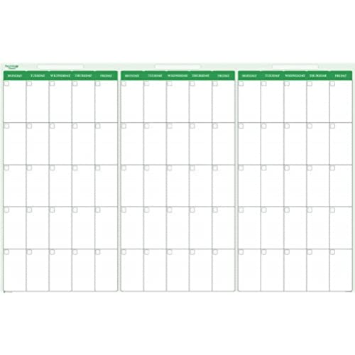 90 Day Calendar.90 Day 3 Month Dry Wet Erasable Calendar Kit 38 X 58 Monday