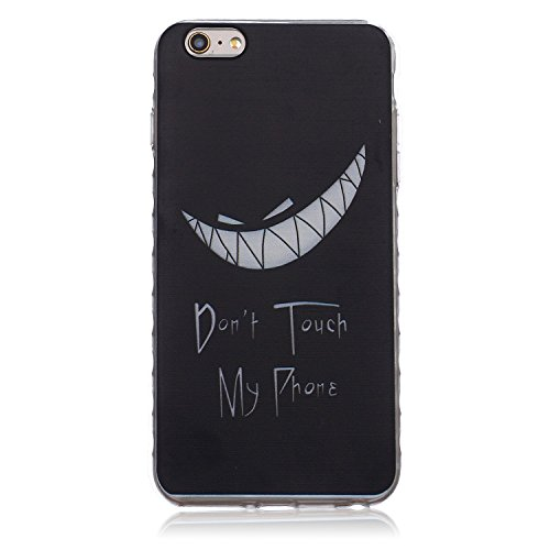Meet de pour Apple iPhone 6 Plus / iphone 6S Plus Ultra Slim Flexible Transparent Soft Case / Housse / Portefeuille / Cover Étui / Housse étui - Don't touch my phone