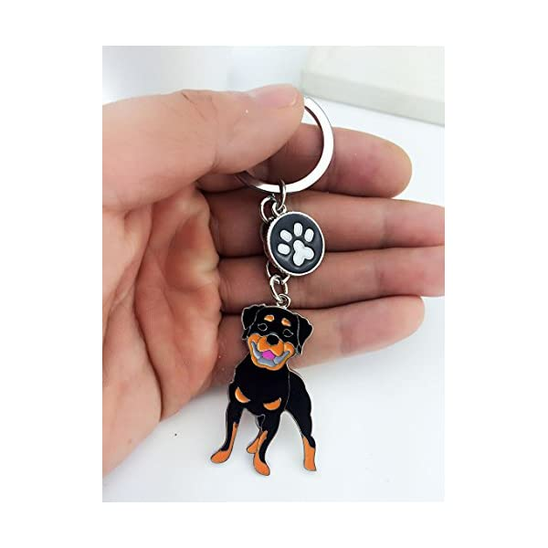 BBEART Dog Keychain ring, Cool Cute Pet Dog Keyring Bag Charm Mini Metal Key Ring Keyfob 4