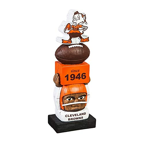 Team Sports America Cleveland Browns Vintage NFL Tiki Totem Statue