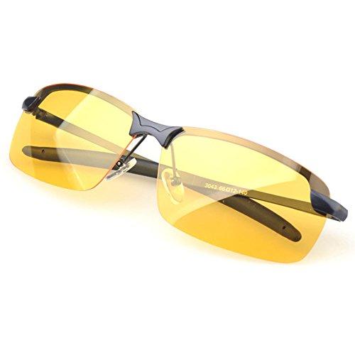 Men's Polarized night vision glasses anti-dazzle light safe drive - Dragon Sunglasses Cheap
