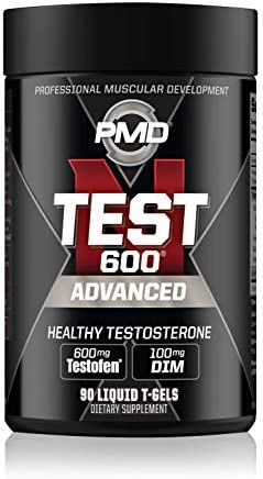 PMD Sports N-Test 600 Advanced Testosterone Booster for Men - Strong and Powerful with Testofen - Training and Bodybuilding - Lean Muscle Growth and Strength Gains - Test Boost 90 Liquid T-Gels