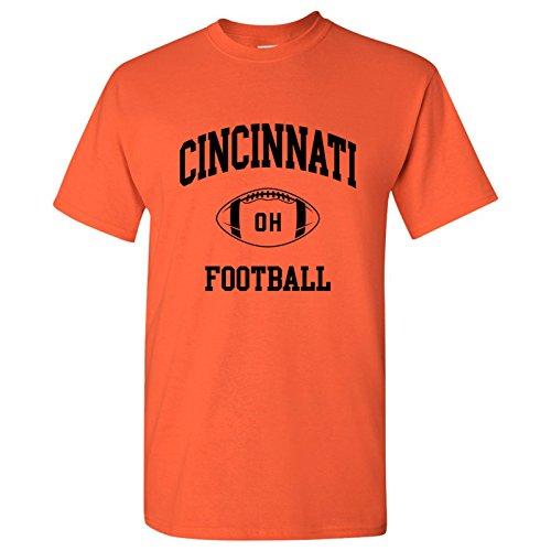 Cincinnati Classic Football Arch Basic Cotton T-Shirt - 3X-Large - Orange Cincinnati Bengals Classic Football