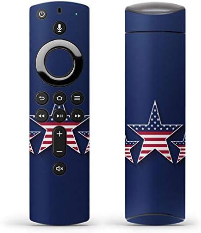 igsticker Fire TV Stick 第2世代 専用 リモコン用 全面 スキンシール フル 背面 側面 正面 ステッカー ケース 保護シール 007442 その他 星 スター 国旗