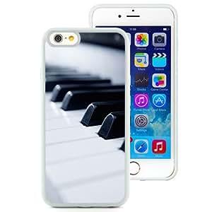 Unique TPU Phone Case Piano iPhone 6 4.7 inch Wallpaper in White
