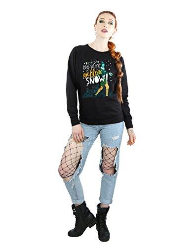 Yellow Elf Snow Entrenamiento Camisa Negro De Mujer Aw4qw5g