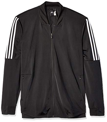 (adidas Men's Athletic Id Tricot Bomber, Black, Small)