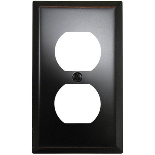 Amerelle 163DDB Traditional Steel Wallplate with 1 Duplex Outlet, Aged Bronze by Amerelle