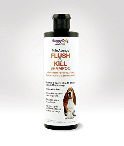 Flush & Kill Benzoyl Peroxide Shampoo for Dog Mites 16 oz