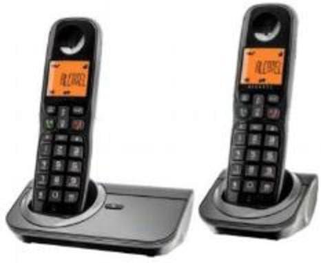 Alcatel Sigma 260 Duo - Teléfono fijo analógico, negro: Amazon.es: Electrónica