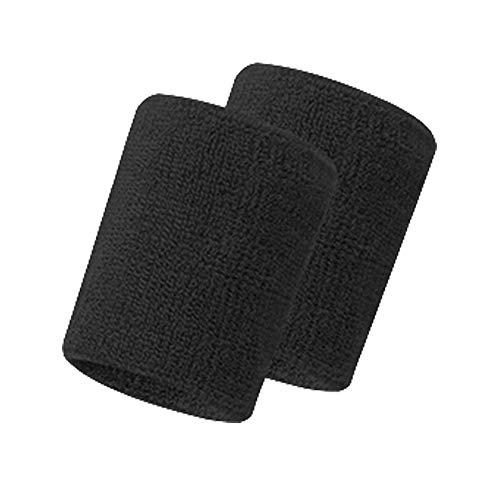Bracelet Poignet 2pcs De Élastique noir Longra Sports Coton Unisexe Sueur Basketball Bandeau Cheveux Sweatband Noir Football Bande Running qXvwvzx