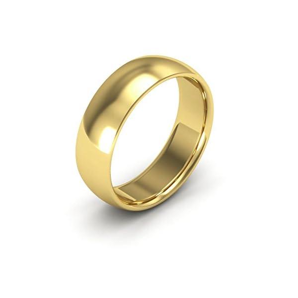 10K Yellow Gold men's and women's plain wedding bands 6mm comfort-fit - 41hw2zojyLL - 10K Yellow Gold men's and women's plain wedding bands 6mm comfort-fit