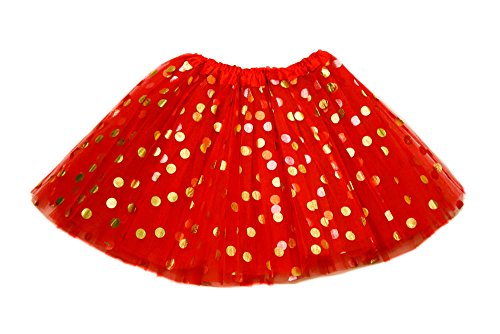 Adult Polka Dot (The Hair Bow Company Adult Gold Polka Dot Tulle Tutu in 3 Sizes and Many Colors (XL-3XL, Red))