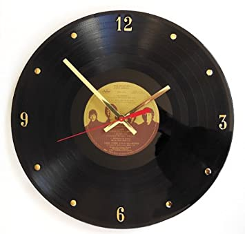 The Beatles Vinyl Record Clock Love Songs . 12 Wall Clock Made with The Original Record and Ready to Hang.