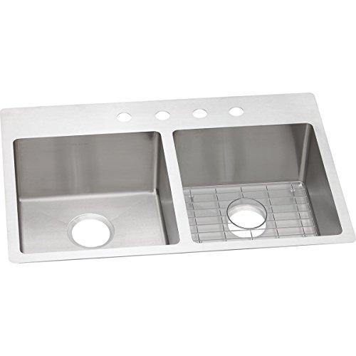 Elkay Sink Template - Elkay Crosstown ECTSR33229BG5 Equal Double Bowl Dual Mount Stainless Steel Sink Kit