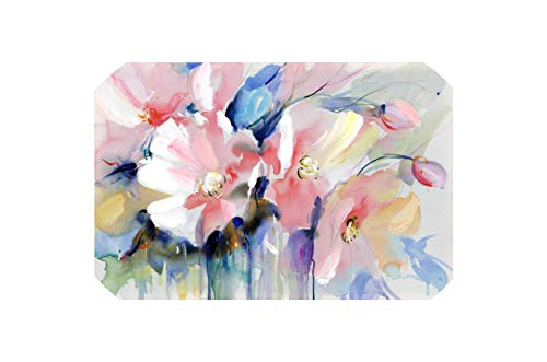 Modern Watercolor Flowers Wall Painting Hand Painted Print On Canvas Wall Picture for Living Room Home Decor Gift,60X90Cm No Frame,Pc2291