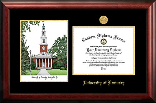 - Campus Images KY998LGED University of Kentucky Embossed Diploma Frame with Lithograph Print, 8.5