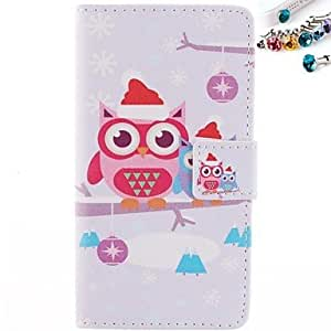 Multicolor Tree One Window Clamshell PU Leather Full Body Case for HuAscend P7