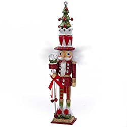 Kurt Adler Hollywood Tree Hat Nutcracker, 15-Inch, Red and...