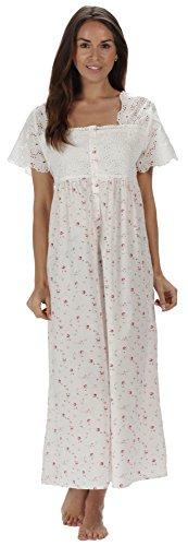 the-1-for-u-100-cotton-short-sleeve-ladies-nightdgown-elizabeth-xl-vintage-rose