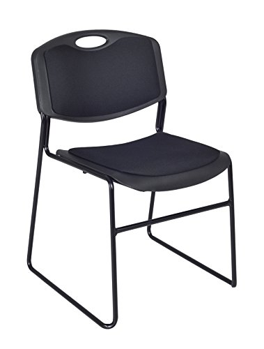 Zeng Stacking Chair - Regency Zeng Padded Stack Chair, Black