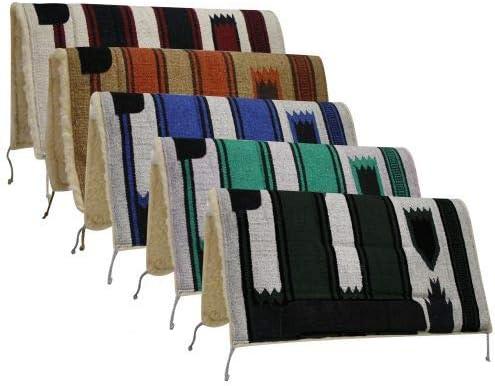 """Showman 32/"""" x 34/"""" Cutter Style Saddle Pad w// Kodel Fleece /& Wear Leathers"""