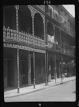 Photo: Street scene,roads,French Quarter,New Orleans,Louisiana,LA,Arnold Genthe,1920 - In Shopping Quarter New French Orleans