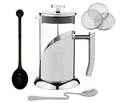 Cuisine Essentials French Press Coffee Maker Set - Stainless