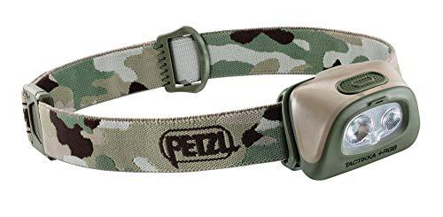 PETZL Unisex – volwassenen hoofdlamp Tactikka+ RGB camo lamp, camouflage, één maat