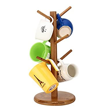 JOYBATH(TM) Bamboo mug tree/cup storage rack