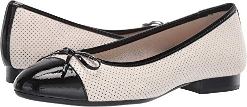 Aerosoles - Women's Outrun Ballet Flat - Comfortable Slip-On with Memory Foam Footbed (7.5M - Bone Leather) ()