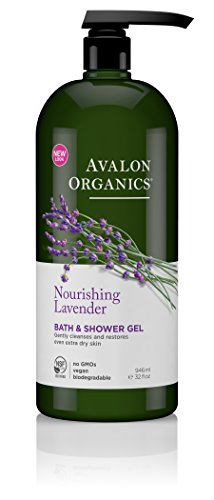 Avalon Organics Bath & Shower Gel, Nourishing Lavender, 32 Fluid Ounce