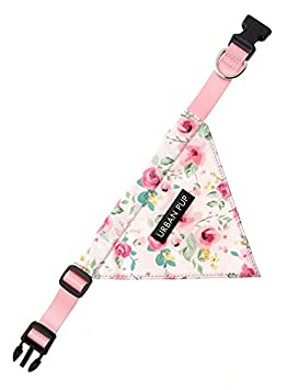Small - Dog Neck Circumference, adjusts: 8 to 11 // 20cm to 28cm UrbanPup Pink Floral Cascade Bandana
