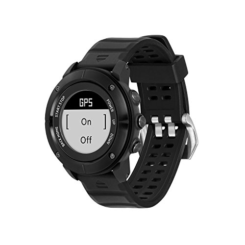 UWEAR GPS Smart Watch,Bluetooth IP68 Waterproof Stainless Steel Smart Watch,Black Smart Men Watch with Global Positioning System,Heart Rate,Compass,Pedometer for IOS Iphone,Android by UWear